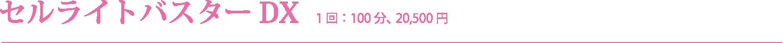 セルライトバスターDX 1 回 : 100 分、 20,500 円